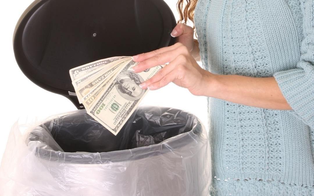 Throwing away money.